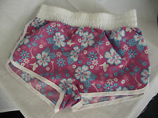 Bnwt Girls Sz 6 Rivers Doghouse Brand Pretty Pink & Flowers Swim Board Shorts