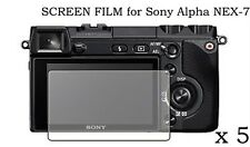 5 Clear LCD Screen Protector Film Cover Skin Foil for Sony Alpha NEX-7 DSLR-A900