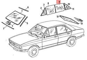 Genuine Volkswagen Door Window Left Rear NOS Audi Fox Dasher 33 82 83 323845205