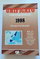 CATALOGO FRANCOBOLLI INTERNAZIONALE UNIFICATO VOL 2 EUROPA OCCIDENTALE 1998