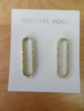 Michael Kors GoldTone Pave' Loop Post Earrings MSRP $85