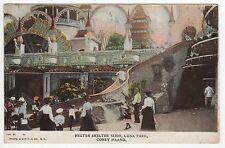 CONEY ISLAND PC Postcard NEW YORK CITY Amusement Park LUNA PARK Helter Skelter
