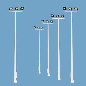 5pcs Model Railway HO Scale Plaza Lamppost Three-leds 13cm 1:87 Playground Light