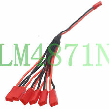 RC JST 1 Male to 6 Female Lipo Charger wire for Blade SR 120SR 120 B6 CX2 CX3