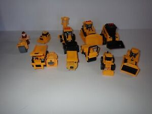 Lot Yellow Plastic Construction Vehicles CAT Tonka Style Trucks Small Scale