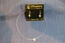 """Odyssey Creations Locking type Faux Crystal Earrings with Matching 16"""" Choker"""