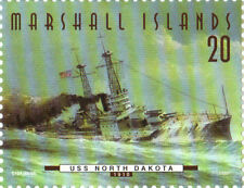 USS North Dakota 20¢ Stamp (50-34) Marshall Islands Fighting Ships / 50 States