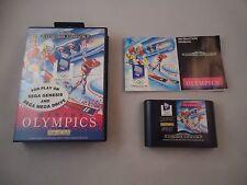 XVII Olympic Winter Games Lillehammer 1994  Sega Genesis Megadrive 1994 COMPLETE