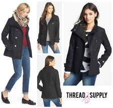 4002f21ebac0f THREAD   SUPPLY CHIC DOUBLE BREASTED WOOL PEACOAT COAT Sz S Nordstrom NWT