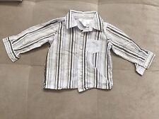 Koala Baby Boutique Blue White Dress Shirt Size 6-9 Month