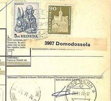 BH217 1974 SWITZERLAND Chiasso PARCEL POST RECEIPT to ITALY Cesena
