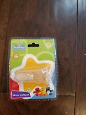 New- Sesame Street Beginnings Baby Finger Toothbrush -Silicone Toothbrush - 0 M+