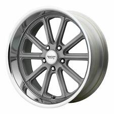 American Racing 18x8 VN507 Rodder Wheel Vintage Silver Diamond Cut 5x115 +15mm