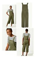 NEW Women's Dungaree Jumpsuit Casual Overalls NEW Ex M&S Size 6-18 RRP £59