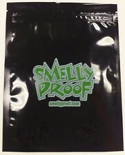 "1 MEDIUM SMELLY PROOF STORAGE PLASTIC BAGS. 7"" x 7"" SOLID BLACK"