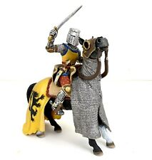 Schleich Knight on Chainmail Horse #70054 Retired World of Knights Free Shipping