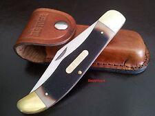 "Schrade Old Timer 125OT 5.3"" Mustang Folder Pocket Knife w/Pouch Hunting Knife"