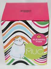 GLAMOUR PUSS KITTY CAT Coffee Mug Cup New Boxed Princess Crown Latte Queen Tall