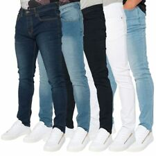 Loyalty & Faith Mens Skinny Stretch Fit Denim Fade Wash Classic Jeans Trousers