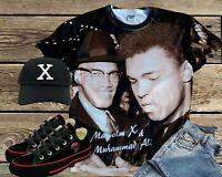 ALI AND MALCOLM X T-SHIRT.Black History t-shirts Black History Shirt,
