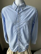 Nat Nast Men's Shirt Blue Gingham Size Medium (M)