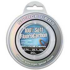 Angelschnur 1,73€//1m Savage Gear Soft Fluorocarbon Schnur 0,92mm 15m 40,5kg