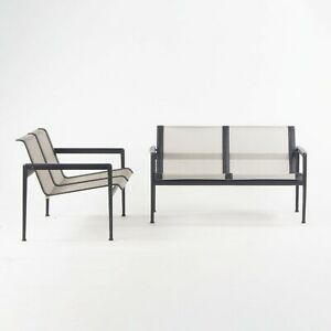2021 Richard Schultz 1966 Two Seat Outdoor Lounge Chairs / Loveseat for Knoll 2x