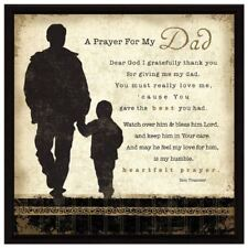 NEW Dexsa Prayer My Dad Wood Frame Plaque with Easel DX8610