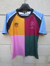 Maillot rugby porté n°15 READING SCHOOL PIRANHA moulant shirt jersey harlequin S