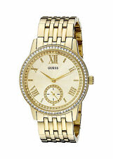 Guess Reloj Mujer Pulsera Oro Gold Bracelet Woman Dress Watch Hand Crystal Arm