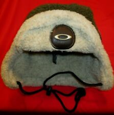 OAKLEY HAT RARE MOSCOW WINTER CAP OLIVE & CASHMERE NEW W EAR AND TIE SKI BEANIE