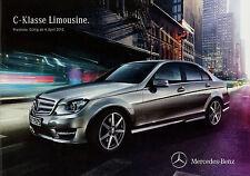 Mercedes C-Klasse W 204 Preisliste 4.4.12 Preise 2012 C 63 AMG 350 250 220 200