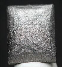 Gibeon Iron Carved Meteorite Cabochon WIDMANSTATTEN Jewelry WireWrap Pendant