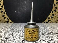 Vintage Hamilton Beach Electric Motor Oil Handy Advertising Tin Can