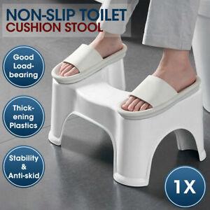 Poop Poo Stool Bathroom Toilet Squat Aid Step Adults Kids Footrest Helper