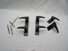 Vintage retro long Bakelite door handles 2 pairs (4 handles) + 1 pair free