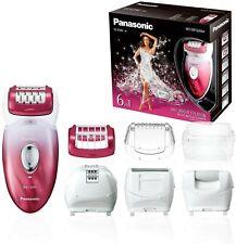 Panasonic Epilator 6 IN 1 White And Pink 48 Tweezers 2 Speed Wet & Dry
