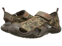 Crocs Swiftwater Realtreemax5 Water Sandal Brown Camo 201152-280 Sz 8 12 13 NWT