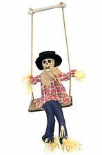 40CM ANIMATED SCARECROW ON SWING LIGHTS SOUND MOVING HALLOWEEN PARTY DECORATION