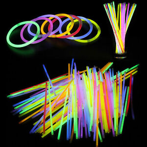 """Glow In The Dark Sticks Necklace Bracelet 8"""" with Connector Party 15pcs 25pcs"""
