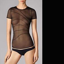 WOLFORD Tuck Shirt • S • black / schwarz..... transparent, aus sehr weichem Tüll