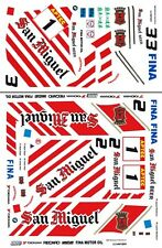 #1 San Miguel BMW 318i 1994 1/64th HO Scale Slot Car Decals
