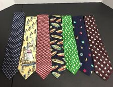 Tie Collection Sailboat Formal Wear Neck Tie Nautical Boating Frat Lot Of 7 Mens
