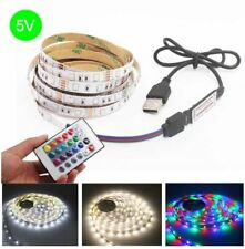 DC 5V USB LED Strip 5M SMD 2835 Flexible LED light Tape Ribbon HDTV TV Desktop S