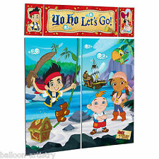 Jake & EL NUNCA Land Piratas Fiesta Escena Setter Pared Niños Decoración Kit