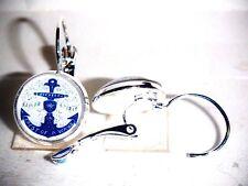 Ohrringe Anker Maritim Rockabilly Damen Ohrschmuck Modeschmuck Leverback Glas