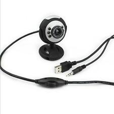 For PC Microphone USB Video Camera 6 LED Webcam With Mic Laptop Computer 50.0M