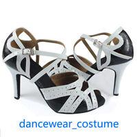 Ladies Party Ballroom Latin Tango Waltz Salsa Dance Shoes Heels Sandals EU 34-42
