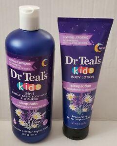 Dr Teals Kids Bubble Bath, Body Wash & Shampoo 20Fl Oz & Sleep Lotion 8 Oz