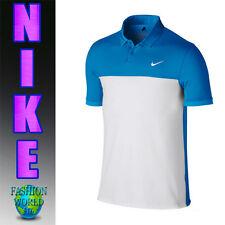 NIKE MEN'S SIZE XL GOLF TOUR ICON COLOR BLOCK POLO SHIRT BLUE/WHITE 725527